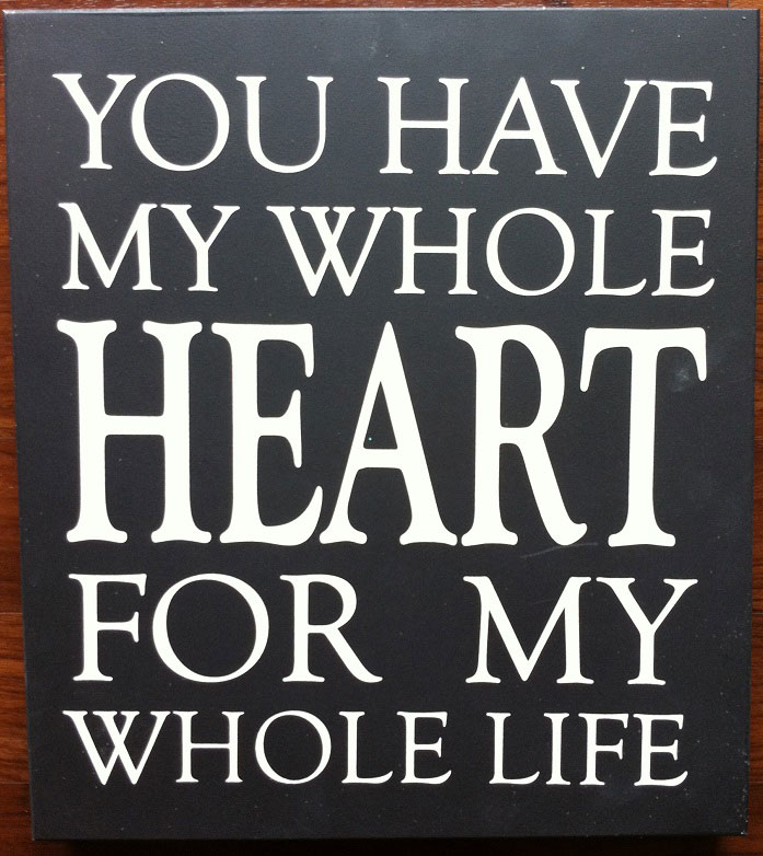 Twelve Timbers My Whole Heart Wall Panel - Customizable!