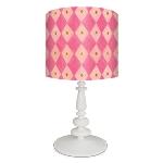Pink Argyle Lamp