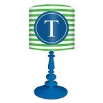 Striped Monogram Lamp