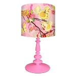 Cherry Blossom Birdies Lamp- Pink & Yellow