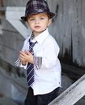 RuggedButts White Button Down w/Black Stripe Cuffs