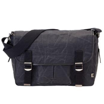 OiOi Wax Canvas Satchel Diaper Bag - Black