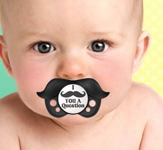 Black Mustache Pacifier & Accessory