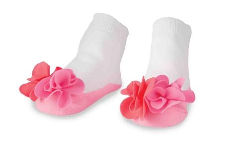 Mud Pie Flower Puff Socks