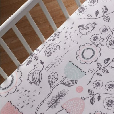 Lolli Living Fitted Crib Sheet - Sparrow