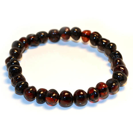 Adult Amber Bracelet - Baroque Cherry