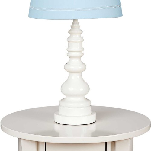 Living Textiles Spindle Lamp Base - White