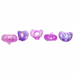 Gumdrop Newborn Pacifier Five Pack - Girl
