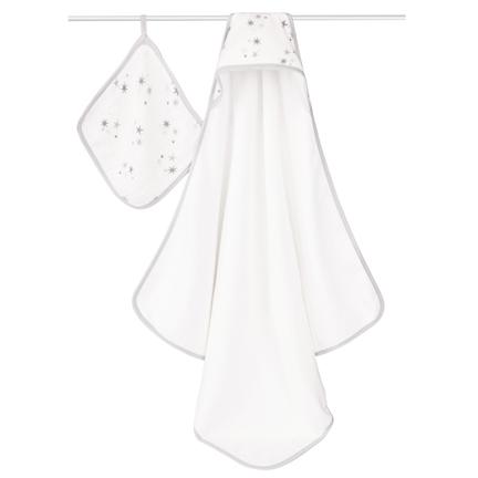 Hooded Towel & Washcloth Set - Twinkle