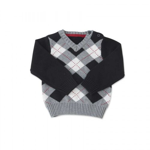K&K Argyle Sweater