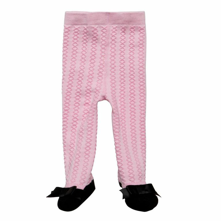 Elegant Baby Footed Tights - Pink