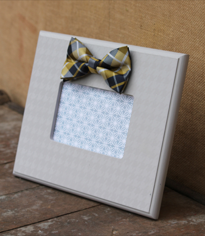 Gray Bow Tie Frame
