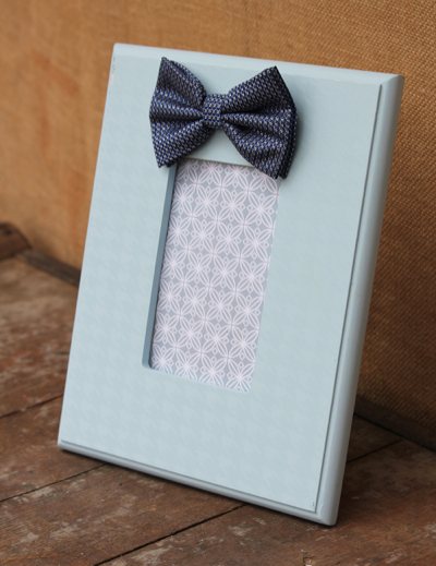 Light Blue Bow Tie Frame