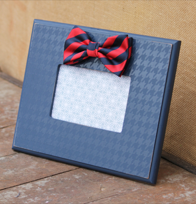 Navy Bow Tie Frame