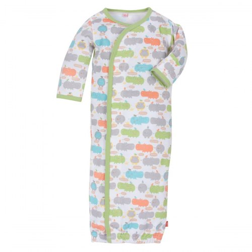 Magnificent Baby Hippo Friends Gown - Gender Neutral