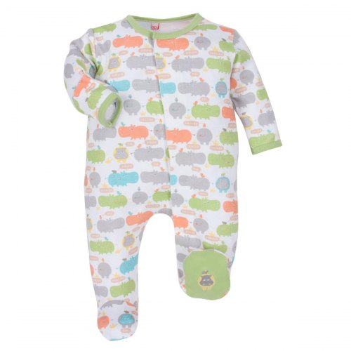 Magnificent Baby Hippo Friends Footie - Gender Neutral