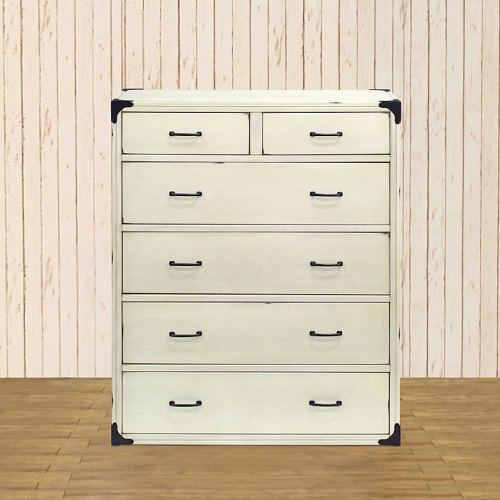 Franklin & Ben Providence Tall Dresser - Distressed White