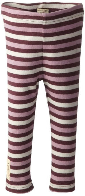 Organic Leggings - Eggplant Stripe