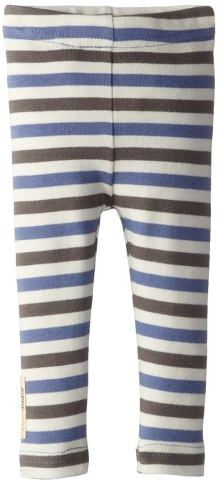 Organic Leggings - Slate Stripe