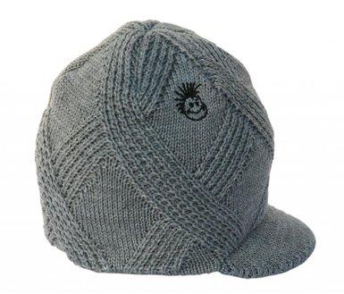 Knuckleheads Visor Beanie - Grey