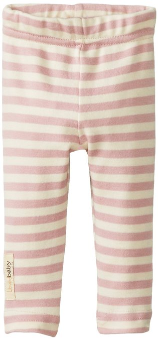 Organic Leggings - Mauve Stripe