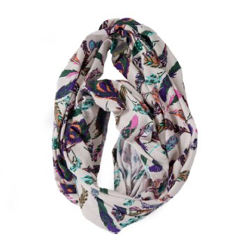 Nursing Happens Infinity Scarf - Boho Feather