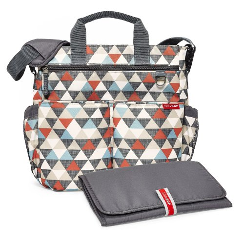 Duo Signature Diaper Bag - Triangles