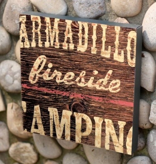 Armadillo Camping Canvas