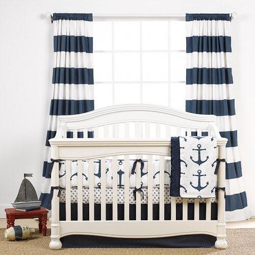 Stripe Curtains - Navy