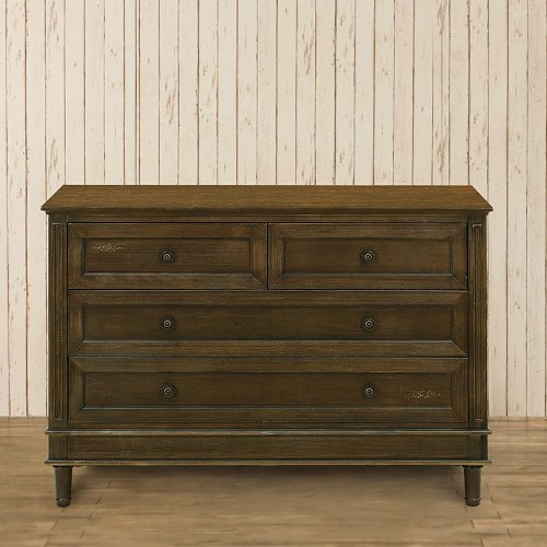 Franklin & Ben Amelia Double Wide Dresser - Weathered Cocoa