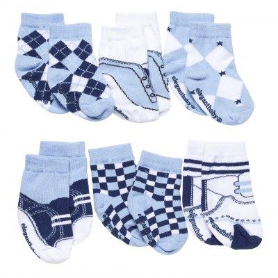 Baby Navies Socks - 6pk