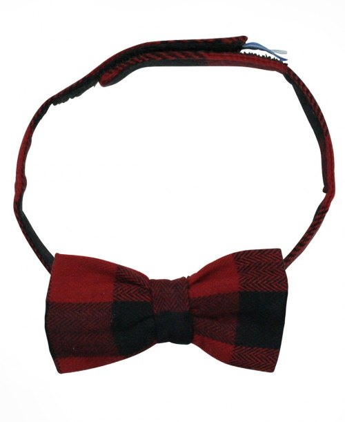 RuggedButts Buffalo Plaid Bow Tie