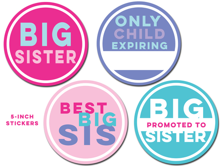 Sticky Bellies - Big Sister Stickers