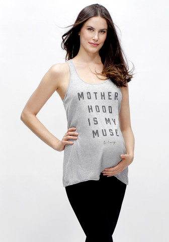 Motherhood is My Muse Racerback Tank