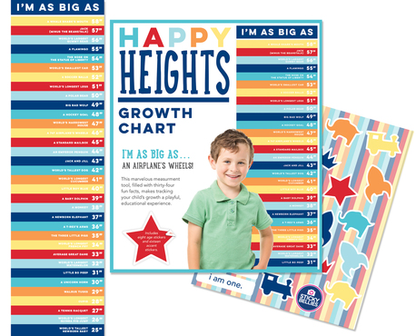 Happy Heights Growth Chart - Boy