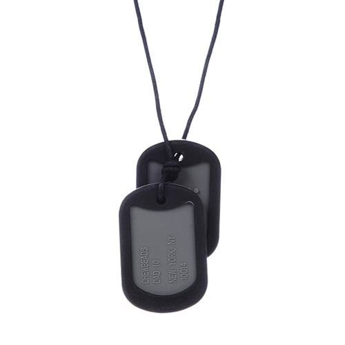 Chewbeads Dog Tag - Black