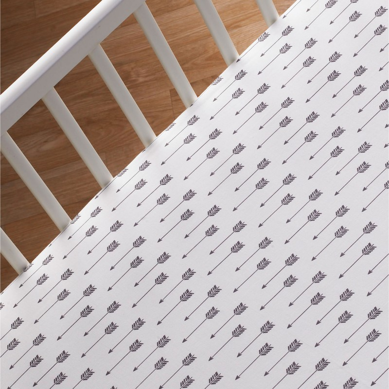 Lolli Living Fitted Crib Sheet - Arrows