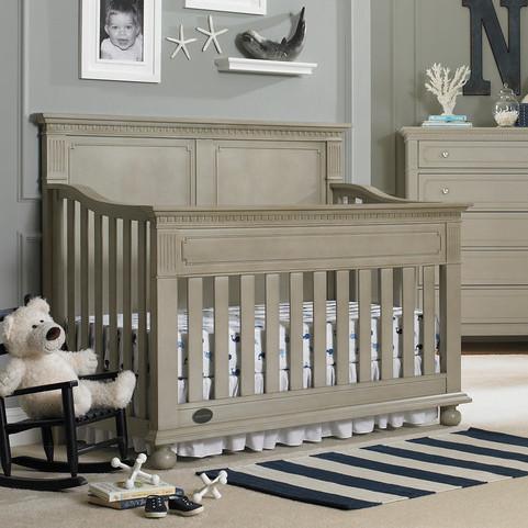 Dolce Babi Naples Full Panel Convertible Crib - Grey Satin