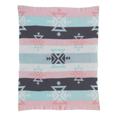 Lolli Living Knitted Cotton Blanket - Aztec