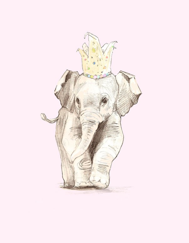Ellie Elephant Canvas