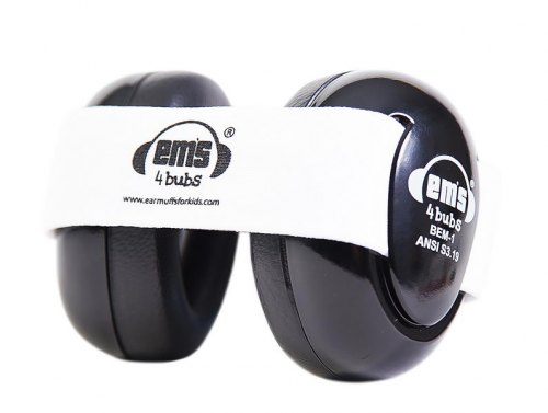 Baby Earmuffs - Black w/ White Band
