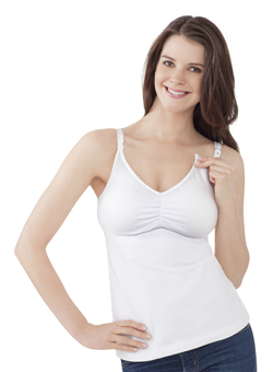 The Essential Nursing Bra Tank - White
