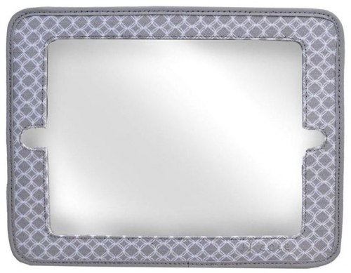 2-in-1 Mirror & Ipad Holder - Gray Circle