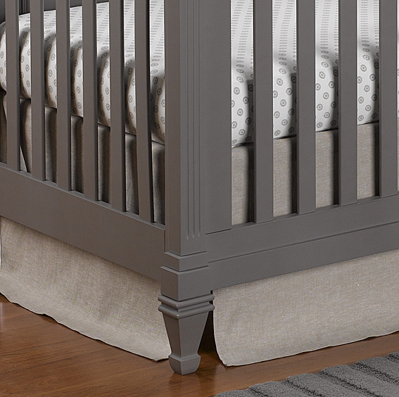 Liz and Roo Crib Skirt - Flax Linen