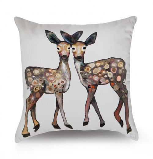 Reversible Throw Pillow - Forest Friends