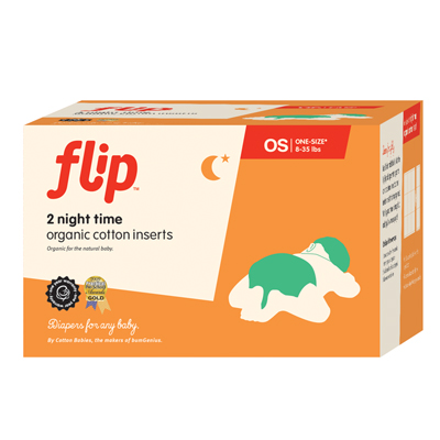 Flip Organic Night Time Inserts - Two Pack