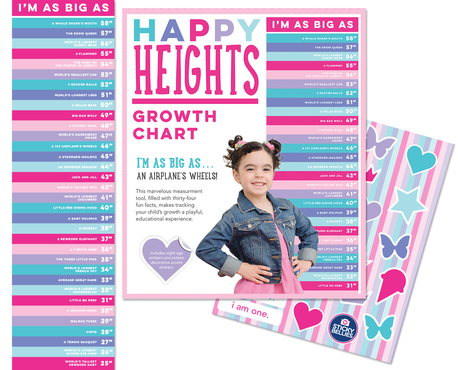 Happy Heights Growth Chart - Girl