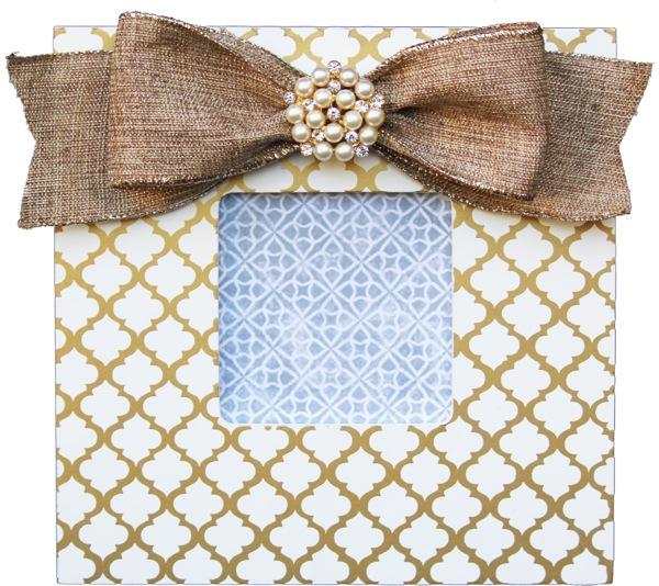 Gold Trellis Embellished Frame