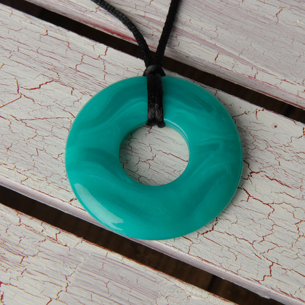 Teethease Original Pendant - Green Marble