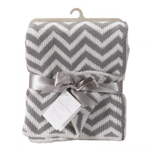 Living Textiles - Chenille Chevron Blanket